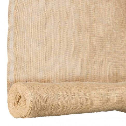 jute stof gedoubleerd 10 meter, naturel textiel, 140 cm