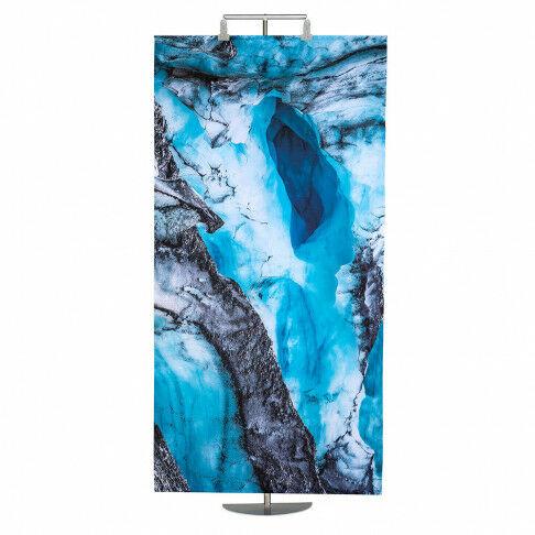 banier ijsgrot met aluminium stokken en ophangkoord, multicolor textiel, 100 x 200 cm