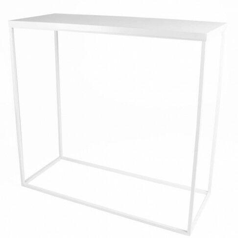 trinity tafel, met bovenplaat, bouwpakket, snel opgezet, wit metaal, 99 x 41 x 91 cm