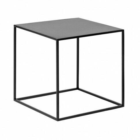 kubus quadro gepoedercoat en mooi strak afgewerkt, zwart metaal, 40 x 40 x 40 cm