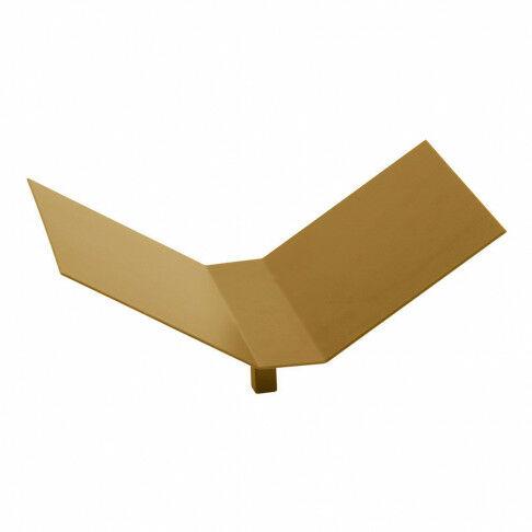 vmframe-tool, open boek display, geschikt voor vmframe en losse vloerstandaard, goud metaal, 30 x 20 x 14.5 cm