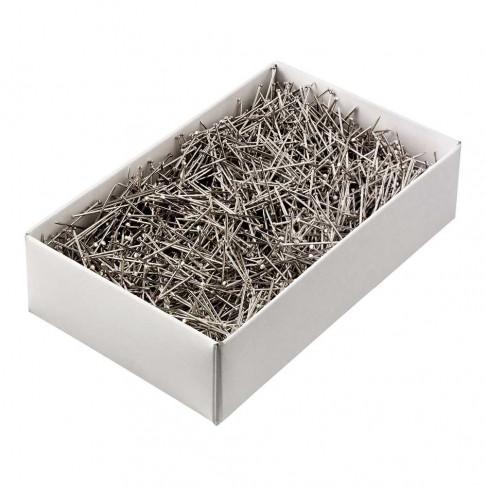 Etalagespelden buigzaam, breken niet, wit metaal, 3 cm