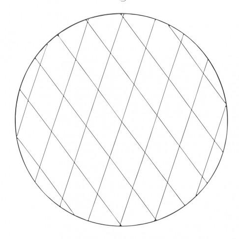 cirkelframe large, zwart metaal, 0.6 x 100 cm