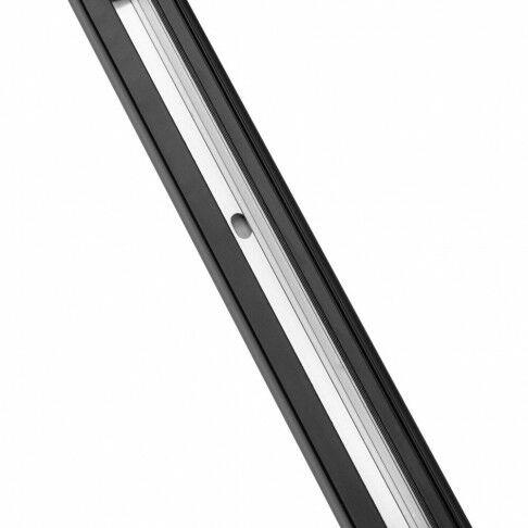led track light, 3 richtspots 15 graden compleet met 3 meter rails en stekker, zwart kunststof, 300 cm