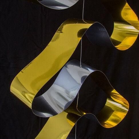 swirl hangdecoratie voordelig, makkelijk en snel in gebruik, goud kunststof, 200 x 50 cm
