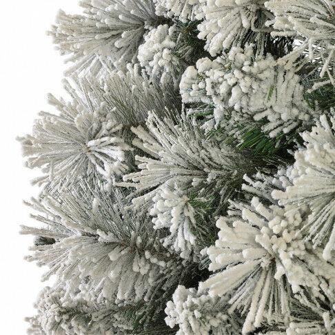 besneeuwde kerstboom voor in winter decors, wit kunststof, 210 x 139 cm