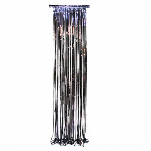 feestgordijn universe, folie stroken backdrop met veel kleurnuances, zwart kunststof, 60 x 300 cm