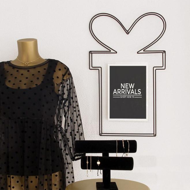 Cadeau frame met affiche/teksthouder, zwart metaal, 40 x 65 cm