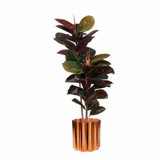 Kunstplant rubberplant met plantenbak florero L