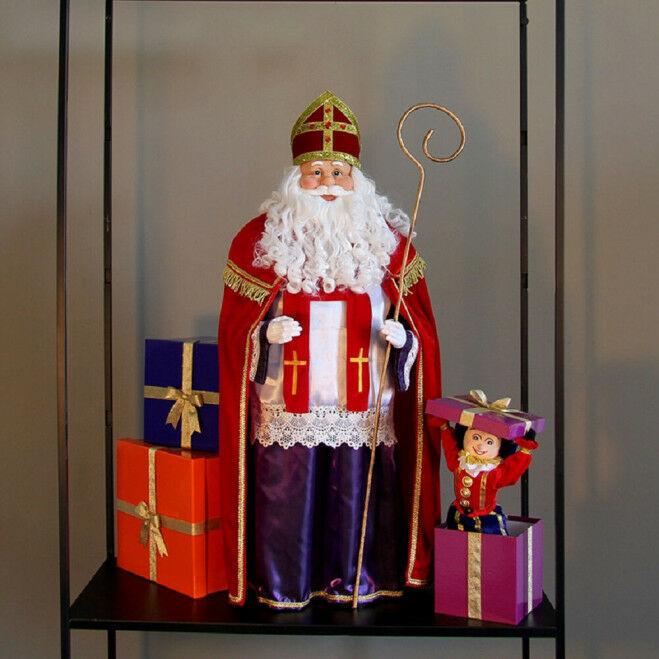 Sinterklaasdecor met Sint, pakjes en Piet