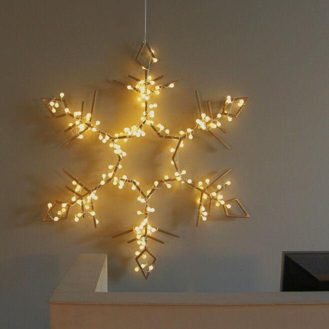 Kristal 112 cm, metaal,  met van LED bolletjesverlichting