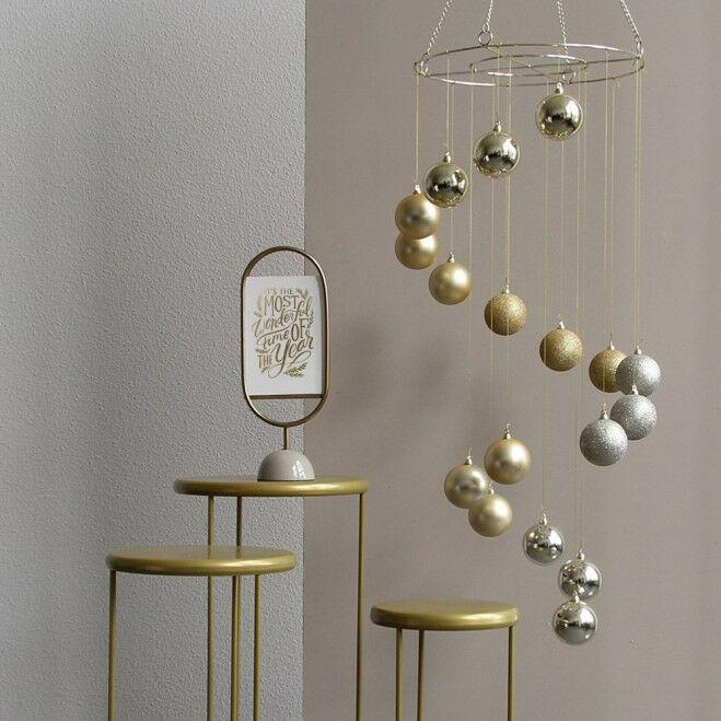 Complete luxe decoratieset inclusief kerstbalkroonluchter, 3 tafeltjes en de luxe Whitley informatiedrager