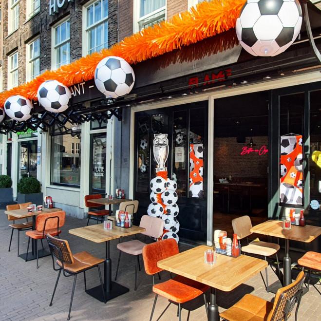 EK Voetbal oranje terras decoratie