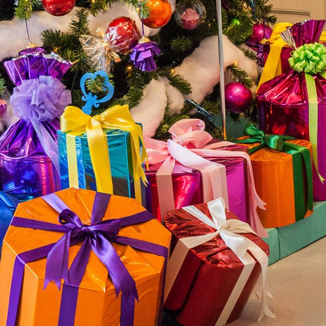 Metallic folie cadeautjes