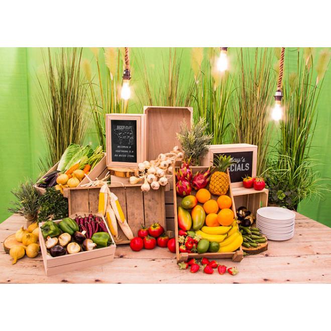 Groente en fruit op tafel