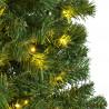 kerstboom pencil premium prelighted ruimtebesparend en met 312 warmwitte lampjes, groen kunststof, 70 x 300 cm