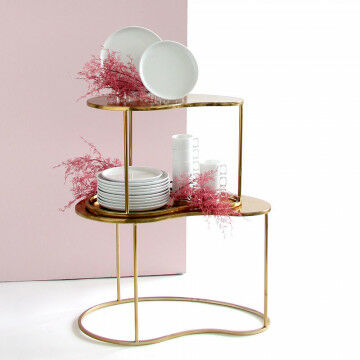 Table set decorated with pink branches