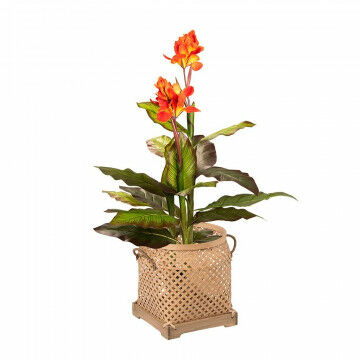 Artificial plant Canna Lily with wicker basket Sumatra