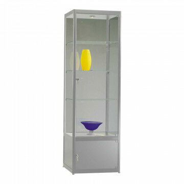 display cabinet smartline (to order), top and base cabinet, with light and locks, silver glass, 40 x 60 x 200 cm