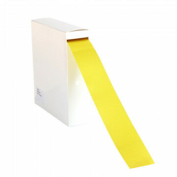ribbon basic 100 meter roll, coloured on both sides, yellow silk, 4 cm