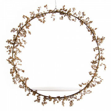 presenting tray fenzi, hanging tray with garland, weights 1150 gram, gold metal, 53 cm, 53cm